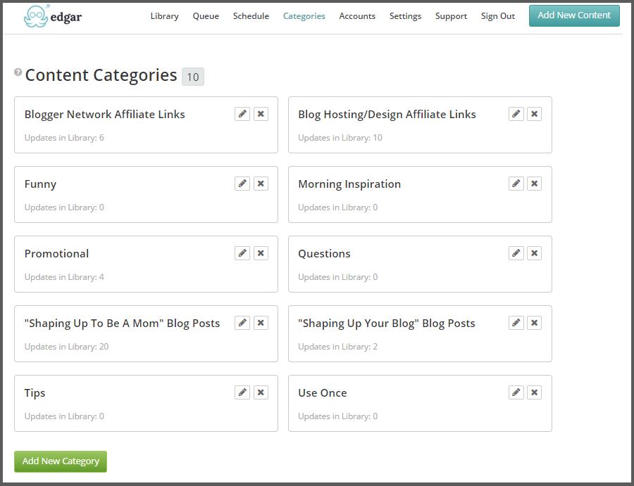 Meet Edgar Categories